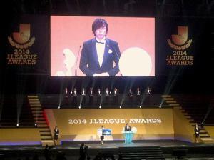 Yasuhito Endo named 2014 J.League Player of the Year, Yokohama Arena, Tuesday 9th December, 2014